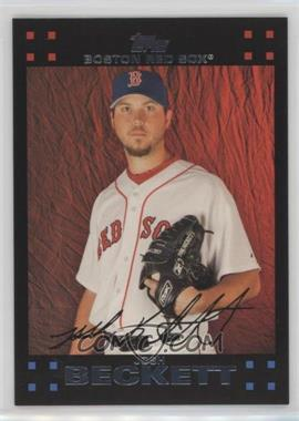 2007 Topps Boston Red Sox - [Base] #BOS13 - Josh Beckett