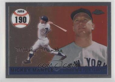 2007 Topps Chrome - Mickey Mantle Home Run History #MHRR190 - Mickey Mantle