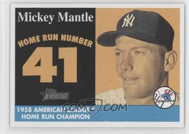 2007 Topps Heritage - 1958 Mickey Mantle Home Run Champion #MHRC41 - Mickey Mantle