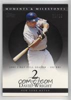 David Wright (2005 First Full Season - 102 RBI) /29