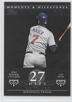 Joe Mauer (2004 Rookie Catcher - 144 Hits) /29
