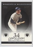 Mickey Mantle (1956 Triple Crown - 130 RBI) [Noted] #/29