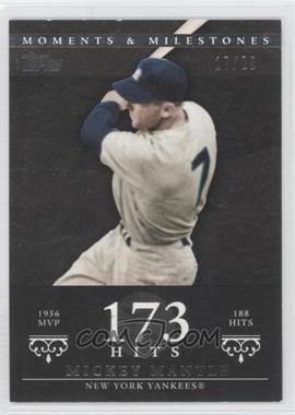 2007 Topps Moments & Milestones - [Base] - Black #165-173 - Mickey Mantle (1956 AL MVP - 188 Hits) /29