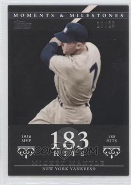 2007 Topps Moments & Milestones - [Base] - Black #165-183 - Mickey Mantle (1956 AL MVP - 188 Hits) /29
