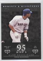 Alex Rodriguez (2003 AL MVP - 181 Hits) #/29