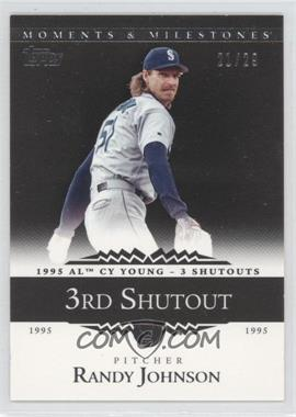 2007 Topps Moments & Milestones - [Base] - Black #53-3 - Randy Johnson (1995 AL Cy Young - 3 Shutouts) /29