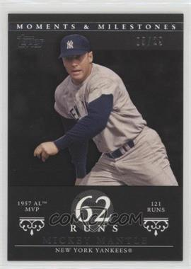 2007 Topps Moments & Milestones - [Base] - Black #76-62 - Mickey Mantle (1957 AL MVP - 121 Runs) /29