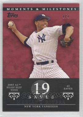 2007 Topps Moments & Milestones - [Base] - Red #149-19 - Mariano Rivera (2005 AL Rolaids Relief Winner - 43 Saves) /1