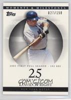 David Wright (2005 First Full Season - 102 RBI) /150