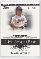 David Wright (2005 First Full Season - 17 Stolen Bases) #/150