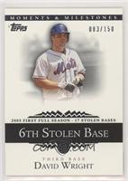 David Wright (2005 First Full Season - 17 Stolen Bases) /150