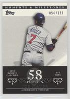 Joe Mauer (2004 Rookie Catcher - 144 Hits) /150