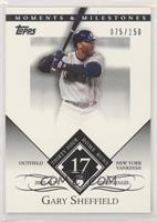 Gary Sheffield (2005 AL Silver Slugger - 34 Home Runs) #/150