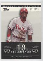 Jimmy Rollins (2005 NL All-Star - 41 Stolen Bases) #/150