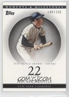 Mickey Mantle (1956 Triple Crown - 130 RBI) #/150
