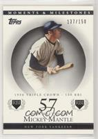 Mickey Mantle (1956 Triple Crown - 130 RBI) [Noted] #/150