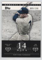 Mickey Mantle (1956 AL MVP - 188 Hits) /150