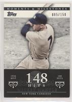 Mickey Mantle (1956 AL MVP - 188 Hits) [EXtoNM] #/150
