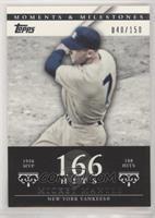 Mickey Mantle (1956 AL MVP - 188 Hits) #/150