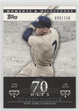 2007 Topps Moments & Milestones - [Base] #165-70 - Mickey Mantle (1956 AL MVP - 188 Hits) /150