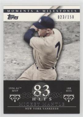 2007 Topps Moments & Milestones - [Base] #165-83 - Mickey Mantle (1956 AL MVP - 188 Hits) /150