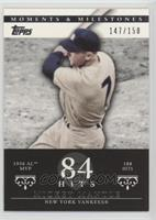 Mickey Mantle (1956 AL MVP - 188 Hits) [Noted] #/150
