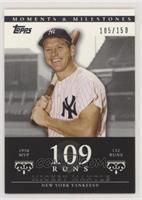 Mickey Mantle (1956 AL MVP - 132 Runs) [Noted] #/150