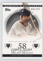 Mickey Mantle (1958 AL All-Star - 97 RBI) /150