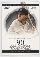 Mickey Mantle (1958 AL All-Star - 97 RBI) #/150