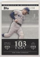 Mickey Mantle (1958 AL All-Star - 127 Runs) #/150