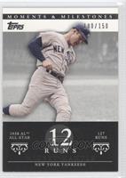 Mickey Mantle (1958 AL All-Star - 127 Runs) #/150