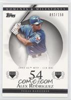 Alex Rodriguez (2003 AL MVP - 118 RBI) #/150