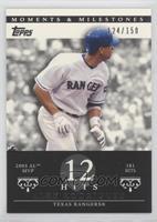 Alex Rodriguez (2003 AL MVP - 181 Hits) #/150