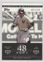 Alex Rodriguez (2005 AL MVP - 124 Runs) #/150