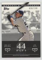 Ichiro Suzuki (2001 AL MVP/ROY - 242 Hits) #/150