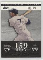 Mickey Mantle (1957 AL MVP - 173 Hits) [Noted] #/150