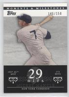 Mickey Mantle (1957 AL MVP - 173 Hits) /150