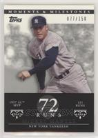 Mickey Mantle (1957 AL MVP - 121 Runs) #/150