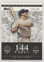 Mickey Mantle (1957 AL MVP - 146 Walks) #/150