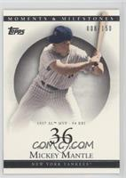 Mickey Mantle (1957 AL MVP - 94 RBI) #/150