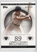 Mickey Mantle (1957 AL MVP - 94 RBI) #/150