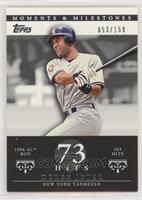 Derek Jeter (1996 AL ROY - 183 Hits) #/150