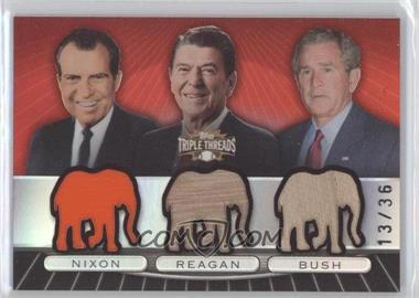 2007 Topps Triple Threads - [???] #TTRC86 - Richard Nixon, Ronald Reagan, George W. Bush /36