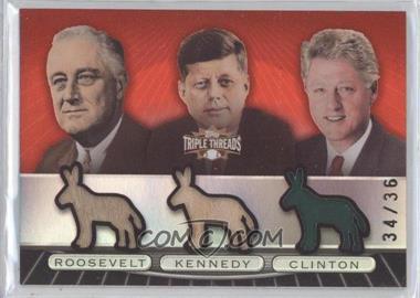 2007 Topps Triple Threads - [???] #TTRC93 - Franklin D. Roosevelt, John F. Kennedy, Bill Clinton