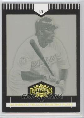 2007 Topps Triple Threads - [Base] - Printing Plate Yellow #24 - Troy Glaus /1
