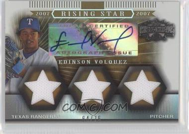 2007 Topps Triple Threads - [Base] - Sepia #168 - Edinson Volquez /75