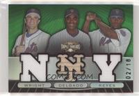 Jose Reyes, Carlos Delgado, David Wright #/18
