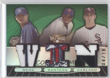 2007 Topps Triple Threads - Relic Combos - Emerald #TTRC93 - Chien-Ming Wang /18