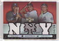 David Wright, Carlos Beltran, Jose Reyes [EXtoNM] #/36