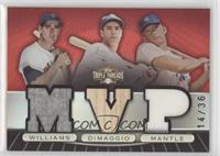 Mickey Mantle, Joe DiMaggio, Ted Williams [EX to NM] #/36